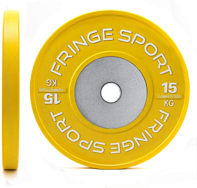 Color Competition Bumper Plate Pairs for Olympic Weightlifting in Kg