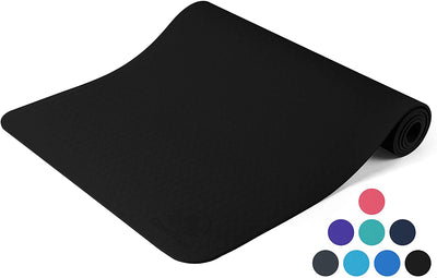 Non Slip Yoga Mat Longer And Wider Thick High Density Padding To Avoid Sore Knee