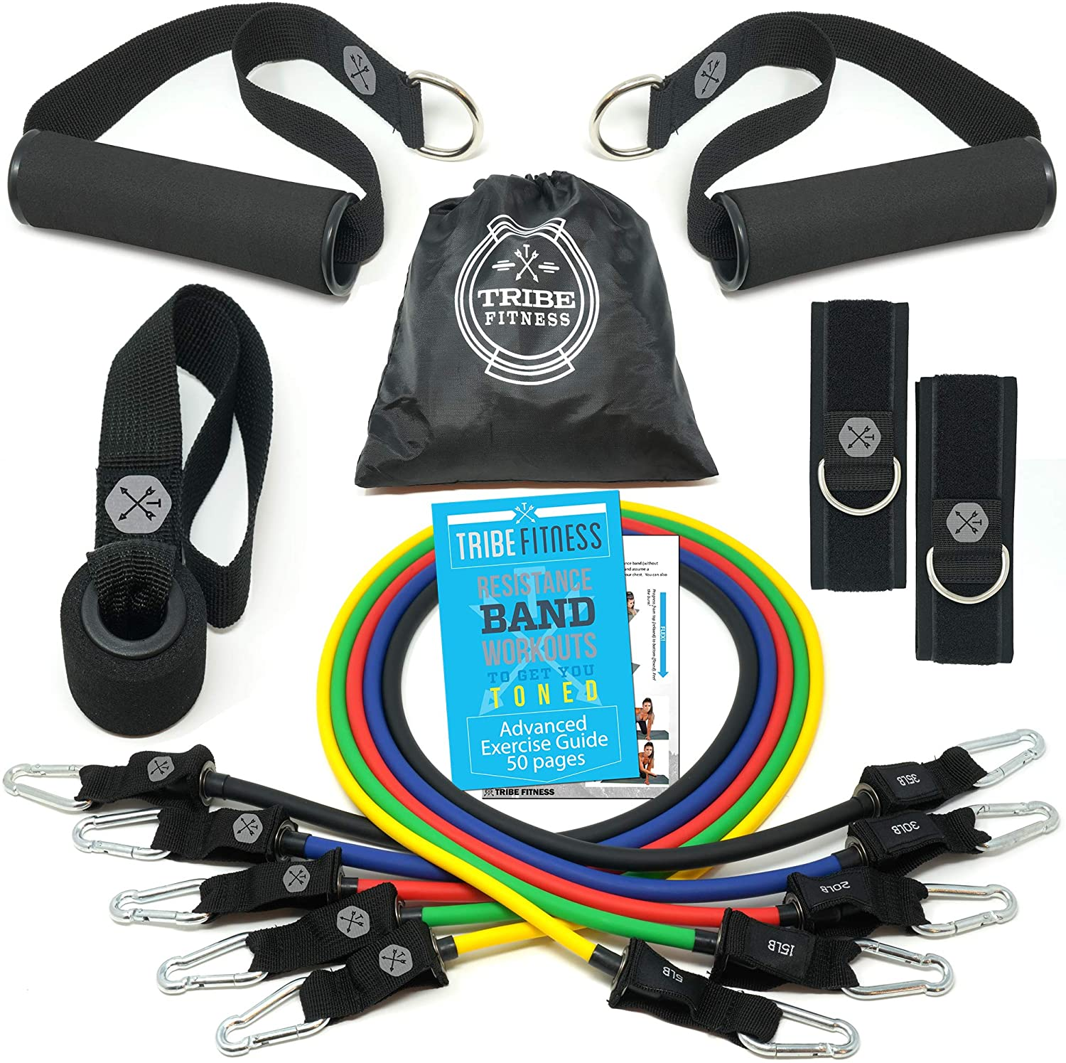 Premium 11pc Resistance Band Set - For Any Resistance Training and Home Workouts