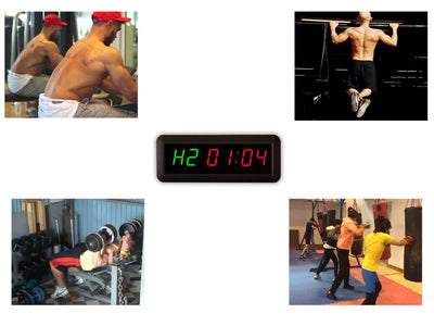 6 Digits Interval Timer Programmable Led Countdown / Up Stopwatch For Home Gym - Everyday Crosstrain