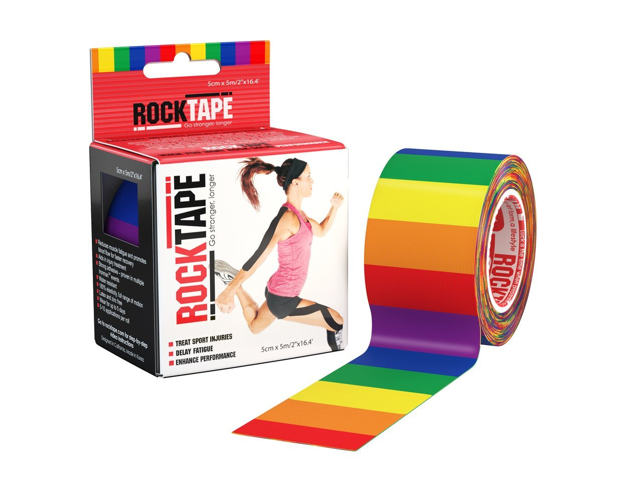 Rocktape - Tape for Athletes, Water Resistant, Reduce Pain and Injury  Recovery