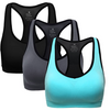 MIRITY Women Racerback Sports Bras - Medium Impact Workout Gym Activewear Bra