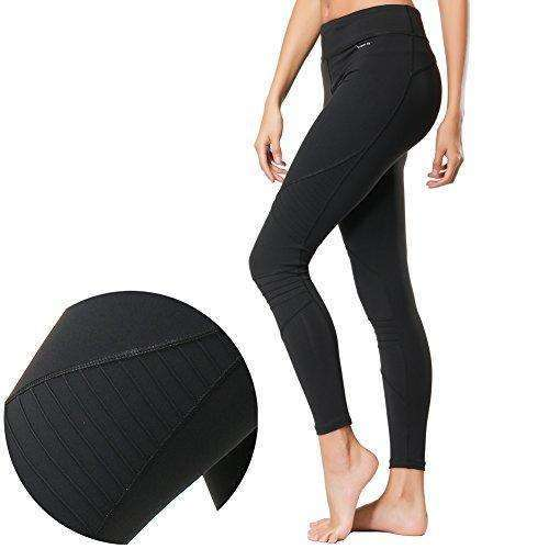 Compression Yoga Pants Power Stretch Workout Leggings, High Waist Tummy Control