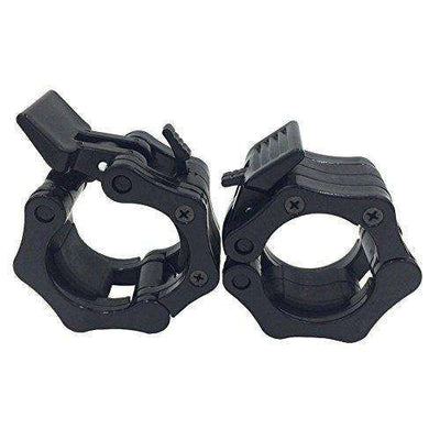 Olympic Barbell Clamps 2 inch Quick Release Locking Pair. Perfect for Crossfit