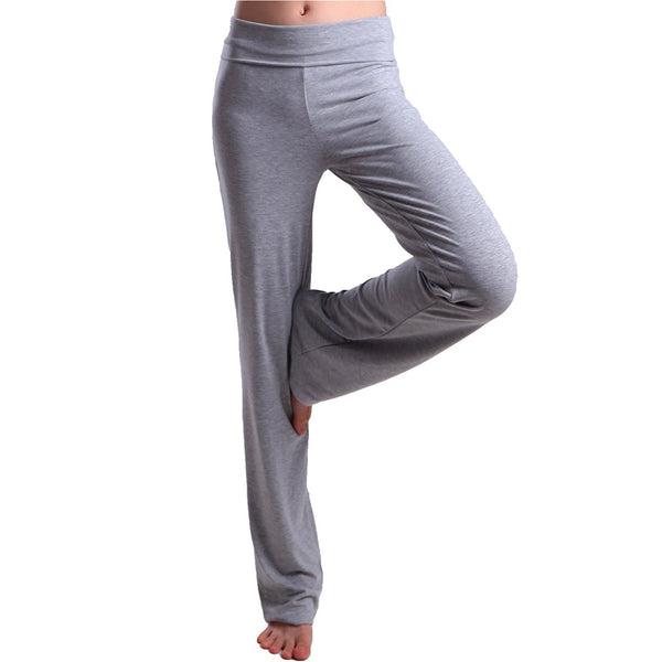 Women's Color Block Fold Over Waist Sports Yoga Pants Flare Leg Workout Leggings - Everyday Crosstrain