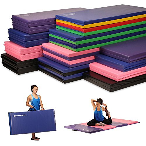 Portable Folding Exercise Gymnastics Mats great for any workout.  With Handles - Everyday Crosstrain