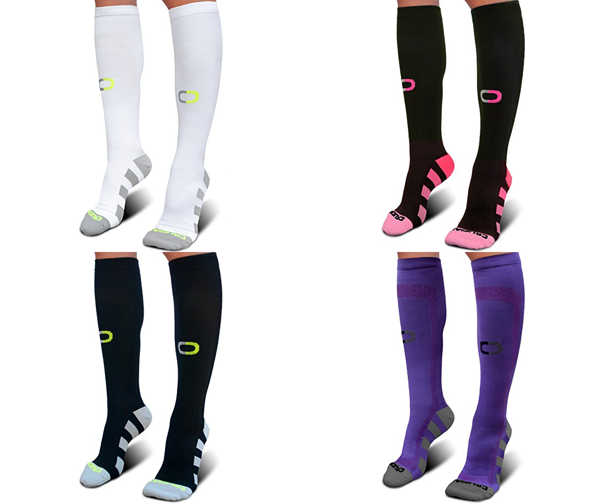 Compression Socks (20-30mmHg) for Men & Women Instant Stamina and Recovery Boost