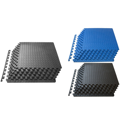 Puzzle Exercise Mat, EVA Foam Interlocking Tiles, Protective Flooring for Gym - Everyday Crosstrain