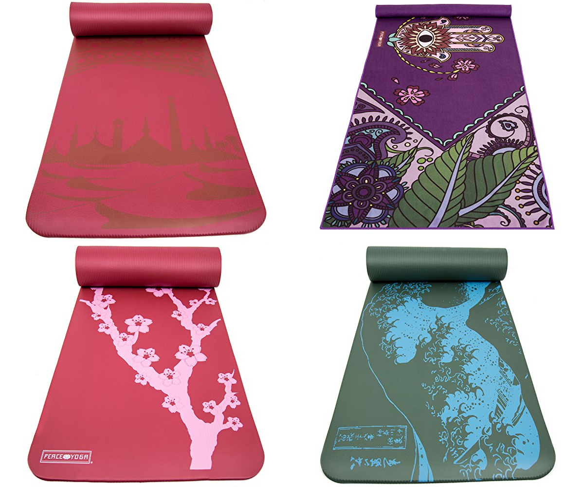 Printed Yoga Mat Extra Thick Exercise Mat. Choose Your Design. Extra Thick NBR - Everyday Crosstrain
