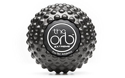 "The Orb Extreme Deep Tissue Massage Ball 4.5"" Black. Provides Aggressive Massage - Everyday Crosstrain"