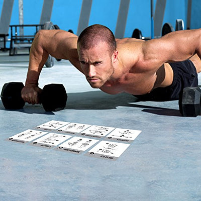 Dumbell Exercise Cards - Workout Guide - Personal Trainer for Building Muscles - Everyday Crosstrain