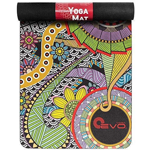 Beautifully Designed Thick Suede Yoga Mat. 3mm. Perfect for your Yoga Sessions