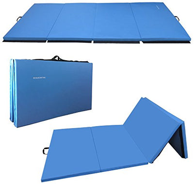 BalanceFrom GoGym All-Purpose 4'x10'x2 Extra Thick High Density Anti-Tear Gymnastics Gym Folding Exercise Aerobics Mats - Everyday Crosstrain