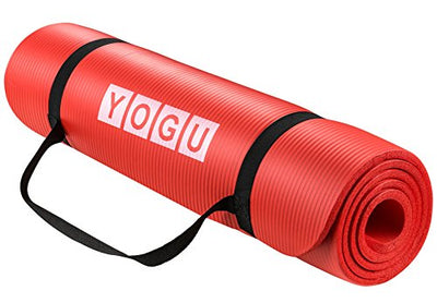 "Lightweight Durable Washable Yoga Mat -1/2"" Thick, Non-Slip Surface, Sweat Proof - Everyday Crosstrain"