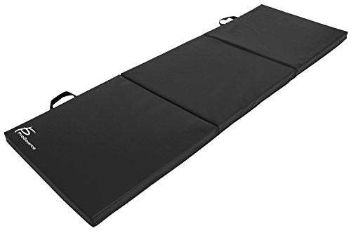 Tri-Fold Folding Thick Exercise Mat 6'x2' with Carrying Handles for Gymnastics - Everyday Crosstrain