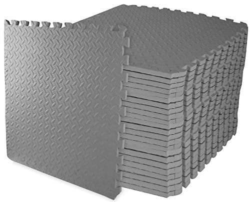 Puzzle Exercise Mat High density EVA foam Interlocking Tiles, Non-slip surface - Everyday Crosstrain