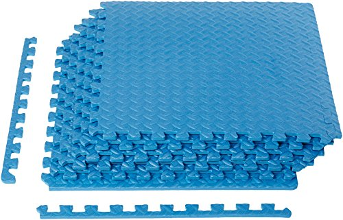 Comfortable Exercise Mat with EVA Foam Interlocking Tiles. Quick Easy Assembly - Everyday Crosstrain