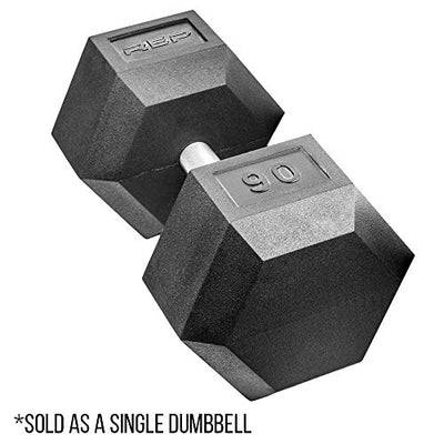 Pair of Superior Quality Rubber Dumbbells with Low Odor and Fully Knurled Handle