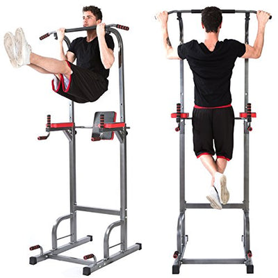 Home Gym Adjustable Multi-Function Power Tower Pull Up Bar Stand Workout Station
