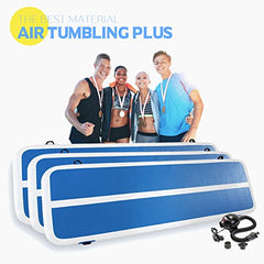 Inflatable Gymnastics Mat Tumbling Track with Electric Pump for Home or Outdoor