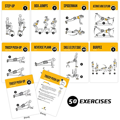 Premium Body Weight Exercise Cards Workout Personal Trainer Fitness Guide - Everyday Crosstrain