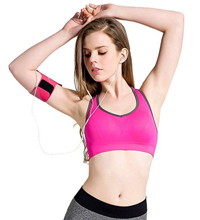 Racerback Sports Bras Padded Seamless High Impact Support For Yoga, Gym, Fitness