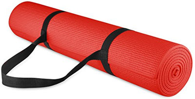 Premium All Purpose High Density Non-Slip Exercise Yoga Mat with Carrying Strap - Everyday Crosstrain