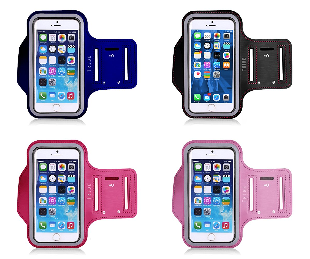 Water Resistant Cell Phone Armband: 5.2 Inch Case Universal to match All Phones - Everyday Crosstrain
