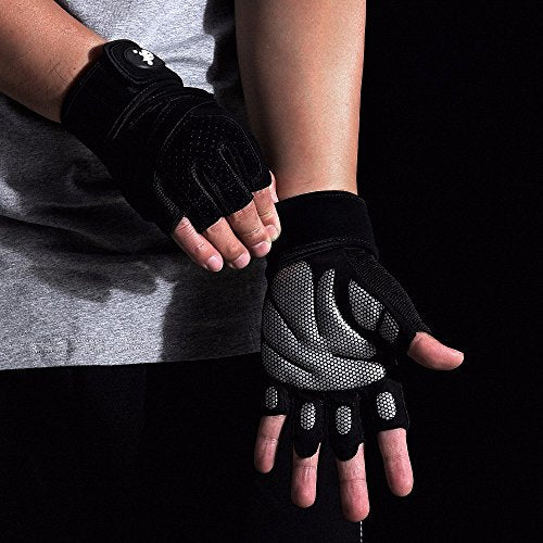 Workout Gloves, Light Microfiber & Anti-Slip Silica Gel Grip Gloves for Crossfit - Everyday Crosstrain
