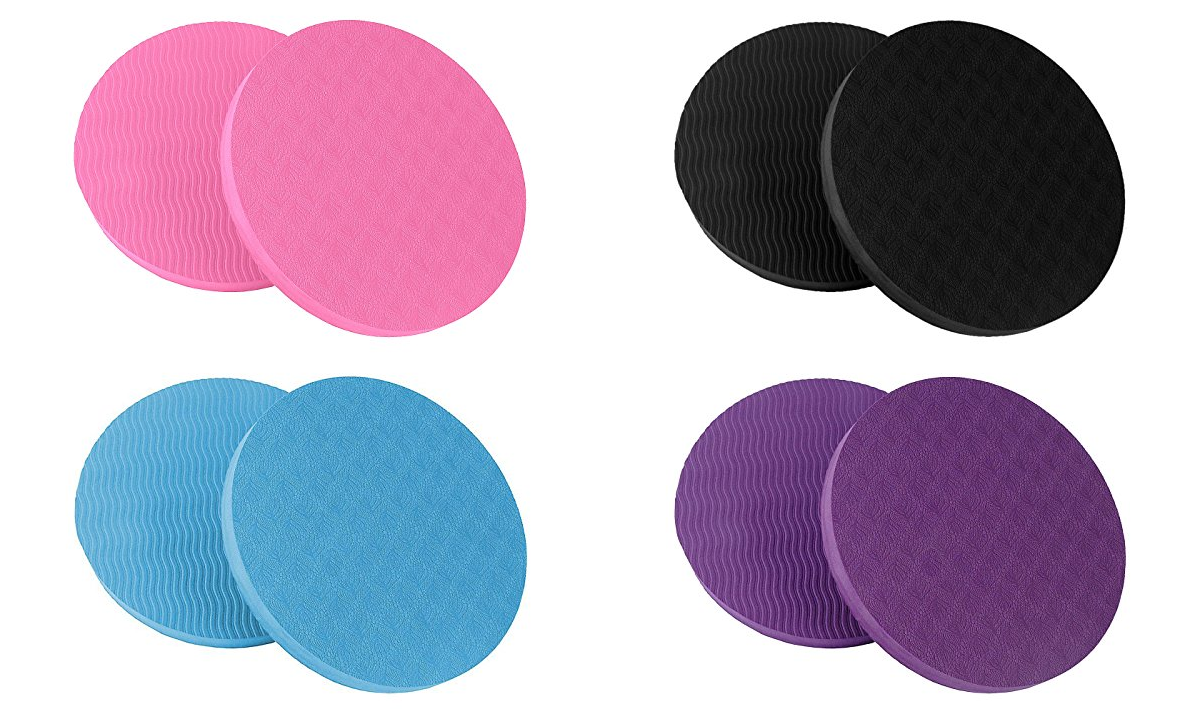 Pack of 2 Eco Yoga Workout Knee Pad Cushion Comfort Non Slip surface Grips Mat - Everyday Crosstrain