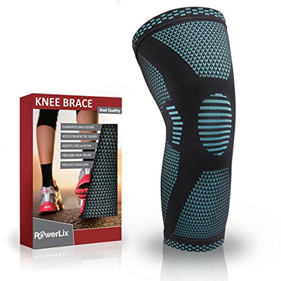 Compression Knee Sleeve - Best Knee Brace for Meniscus Tear, Quick Recovery etc… - Everyday Crosstrain