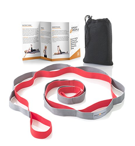 Durable Yoga Strap for Stretching and Rehabilitation. Stretch Band with 12 Loops - Everyday Crosstrain