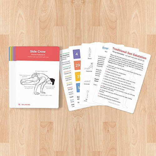 Intermediate Premium Yoga Cards Visual Study Practice Guide with Essential Poses - Everyday Crosstrain
