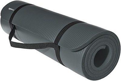 Comfortable 1/2-Inch Extra Thick Exercise Mat for Yoga and Pilates. Durable Foam - Everyday Crosstrain