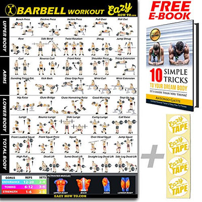 barbell weight lifting bar exercise workout big banner