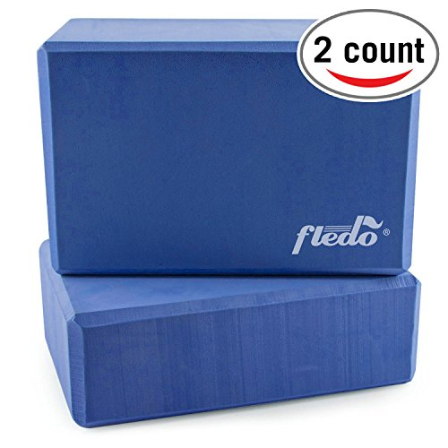 "Yoga Blocks (Set of 2) 9""x6""x4"" EVA Foam Brick, Provides Stability and Balance - Everyday Crosstrain"