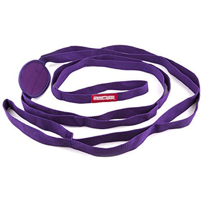 Durable 7ft Cotton Yoga Stretching Exercise Strap Band with Multiple Grip Loops - Everyday Crosstrain