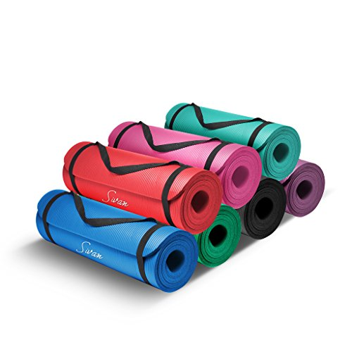 Comfort Foam Yoga Mat 1/2-Inch Extra Thick, 71-Inch Long NBR, for Exercise, Yoga - Everyday Crosstrain