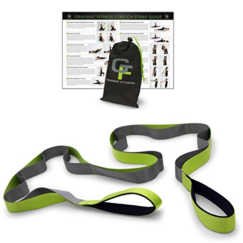 Stretching Strap, Premium Quality Multi-loop Strap (12), Neoprene Padded Handles - Everyday Crosstrain