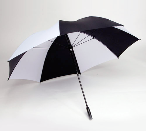 "Single Canopy 62"" Golf Oversized - Black/White"