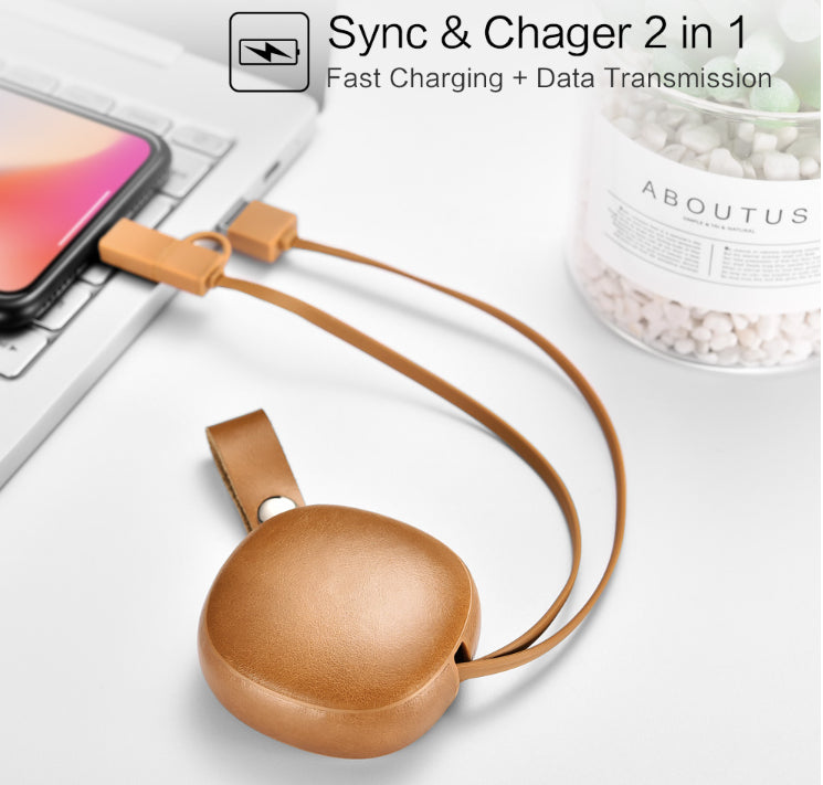 Fast Charging Leather USB Cable For iPhone and Android