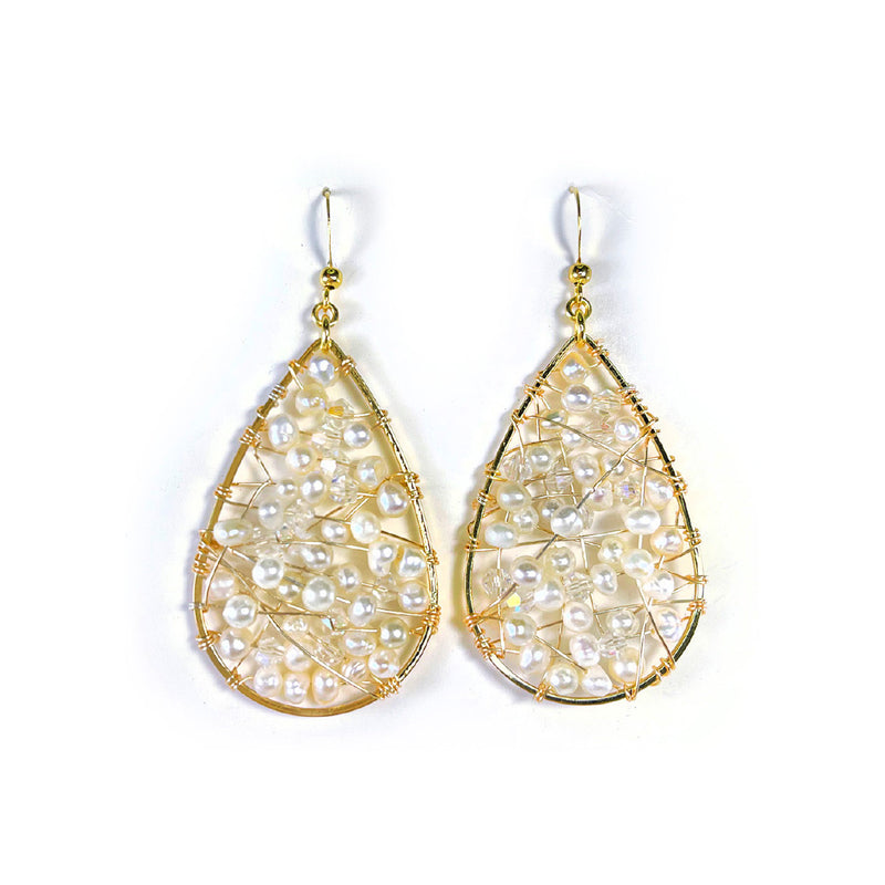 Drop Pearls Earrings