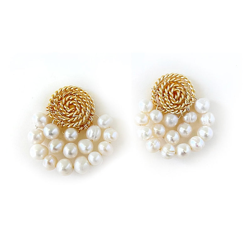 Fan Pearls Earrings