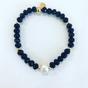 Black Crystals  Bracelet