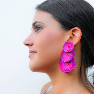 Megan  Earrings Pink