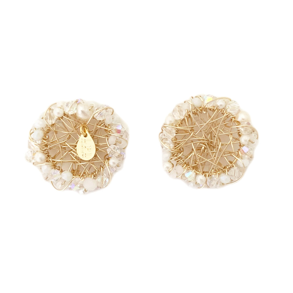 Parguito White Earrings