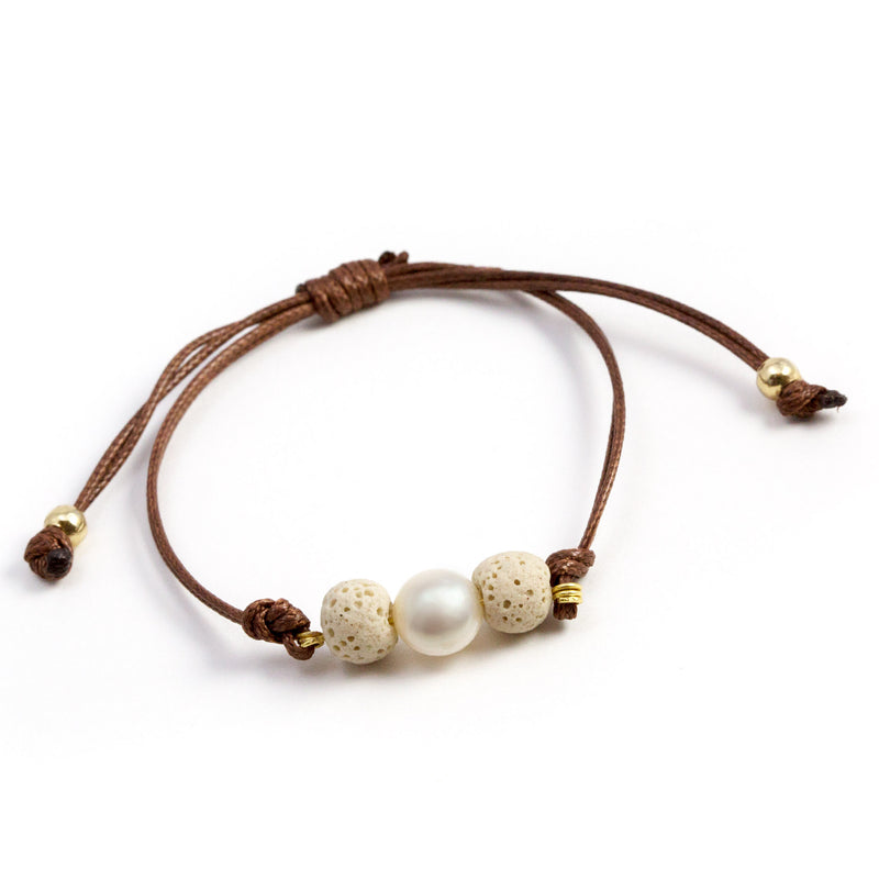 Kassey Brown Diffuser Oil Bracelet