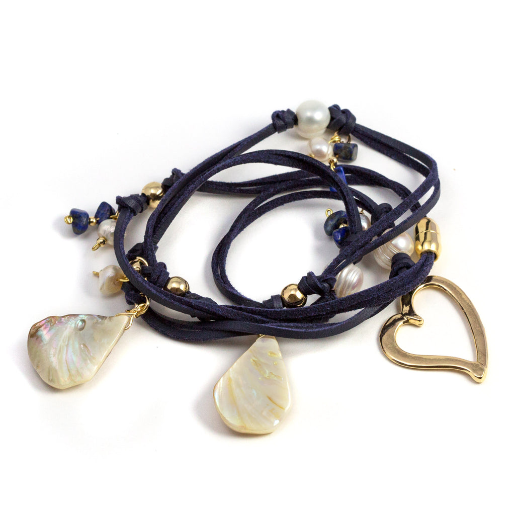 Courtney Navy Blue Versatile Necklace