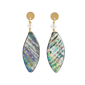 Melissa Mother of Pearl Blue Earrings