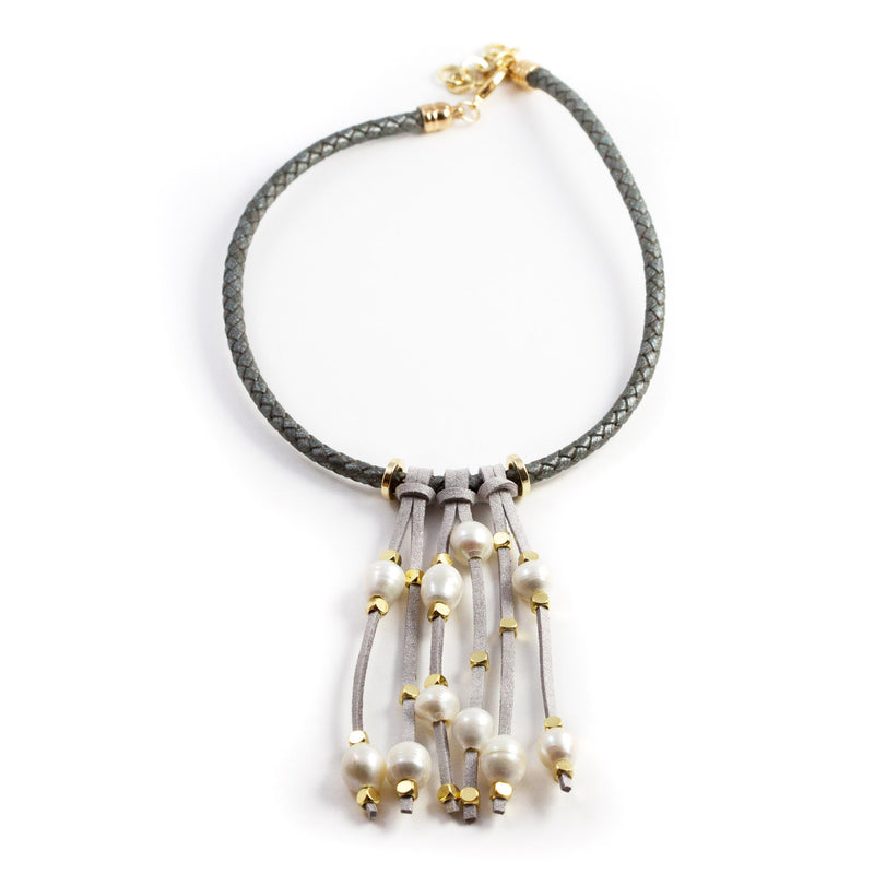 Karen Gray Freshwater Pearl Short Necklace
